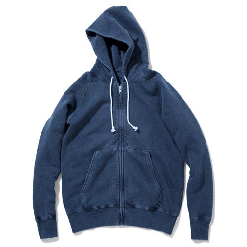 Raglan Zip Hood Sweat - P-Navy