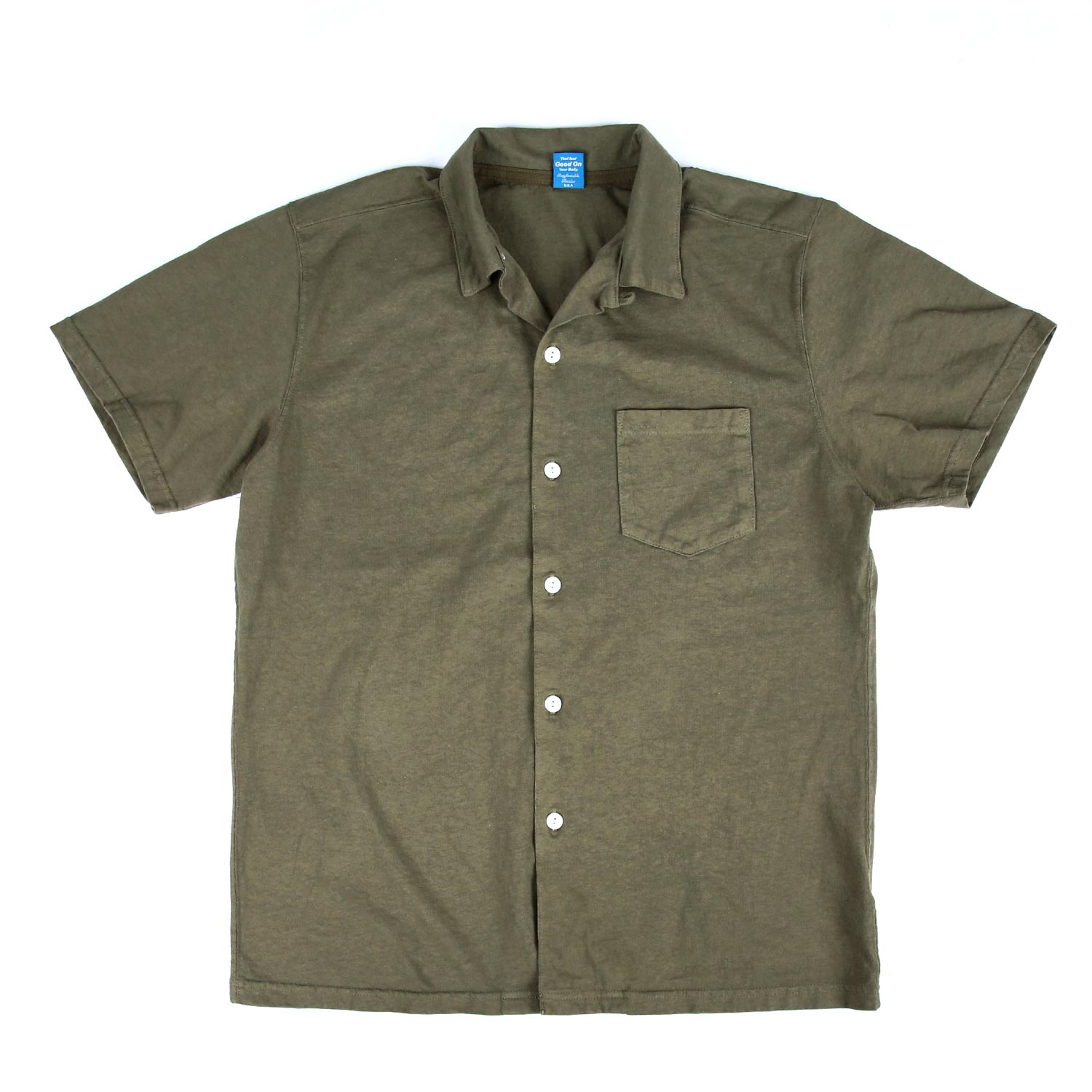 SS Open Tee Shirts - Olive