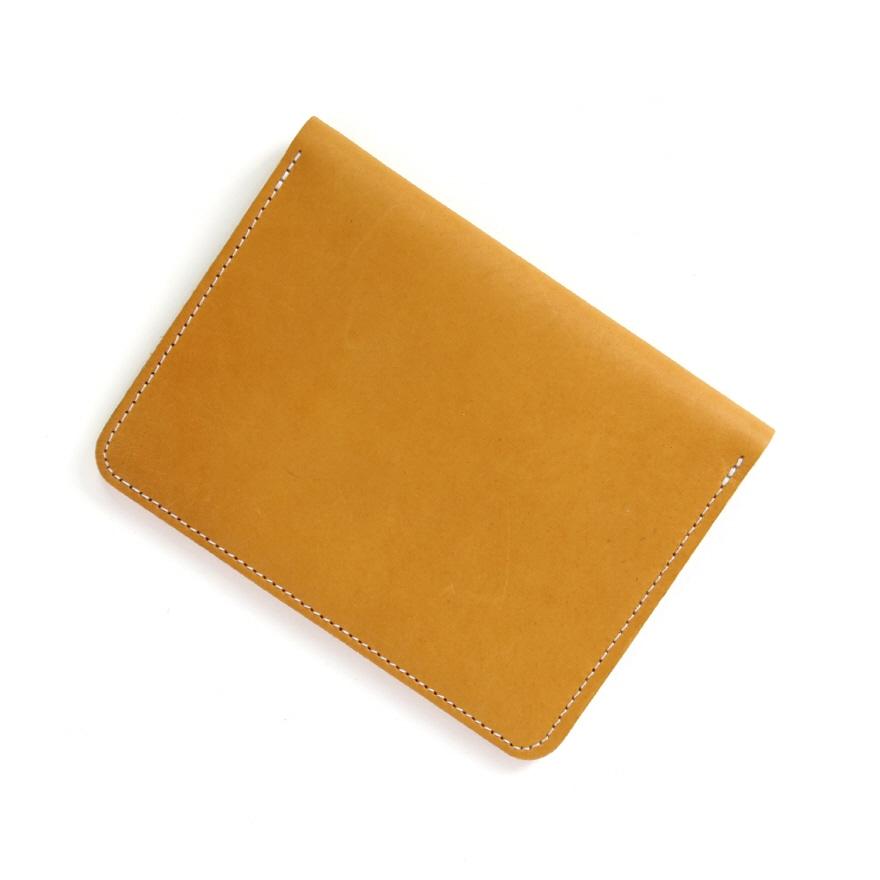 Passport Case Moccasin Leather - Yellow