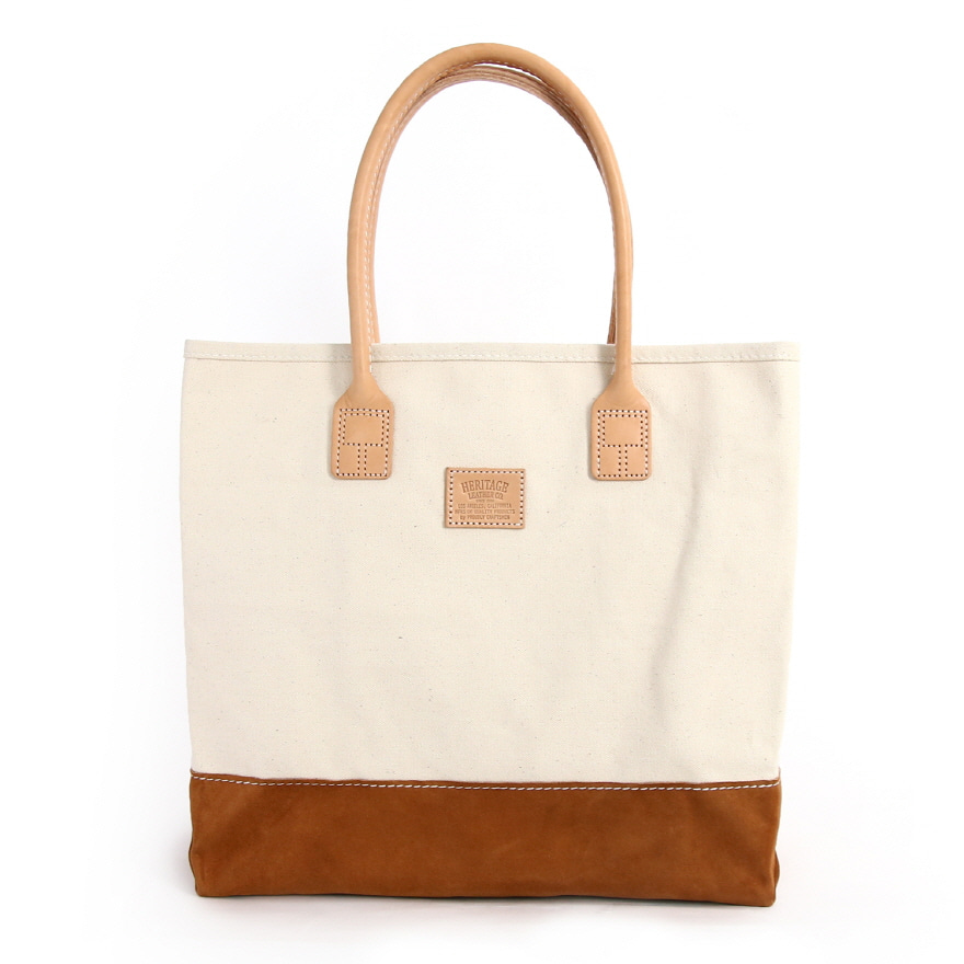 Suede Day Tote - Natural / Brown