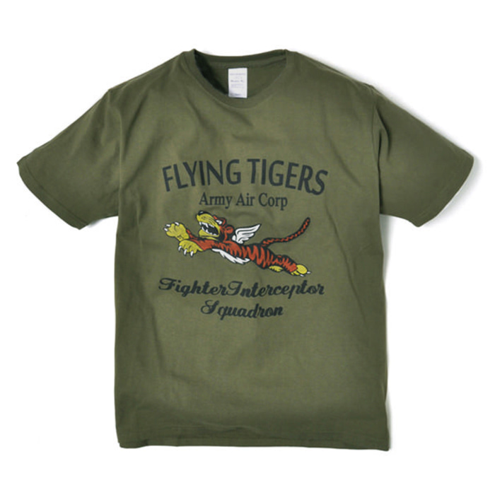 Military Tee - Flying Tiger - Olive Drab