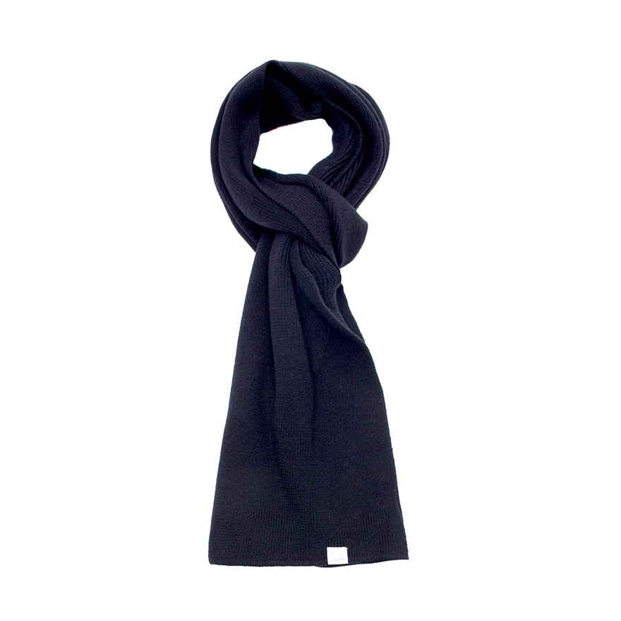 M92 Merino Knitted Scarf - Dark Navy