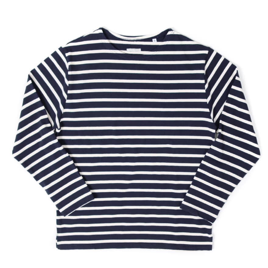 Boat Neck Long Sleeve - Navy/Ivory