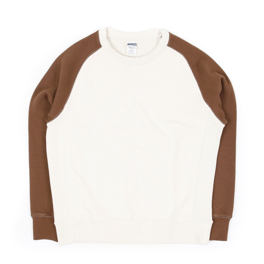 Raglan Sweat Shirt - Oatmeal/Brown