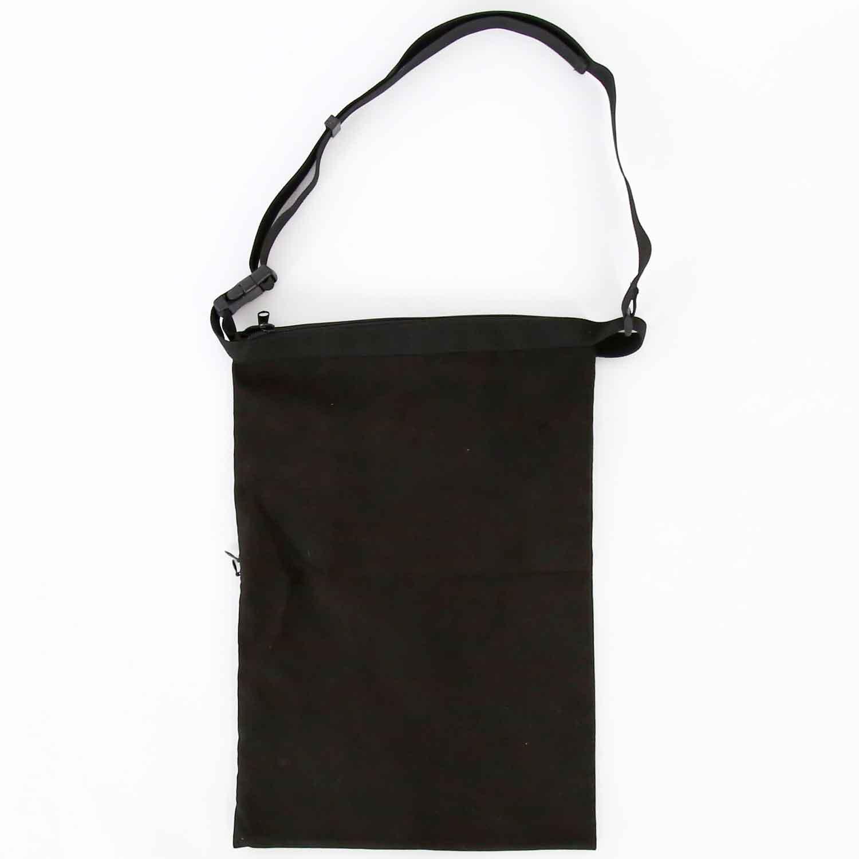 Suede Wrap Bag Small - Black