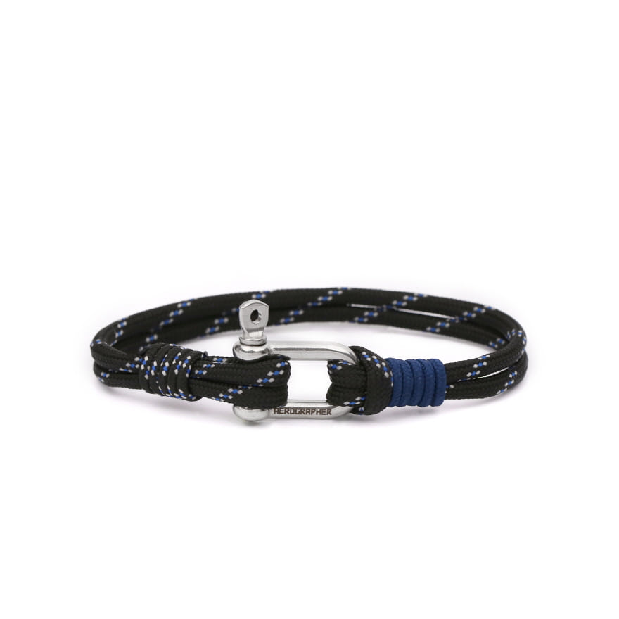 D Shackle Bracelet - Midnight Black