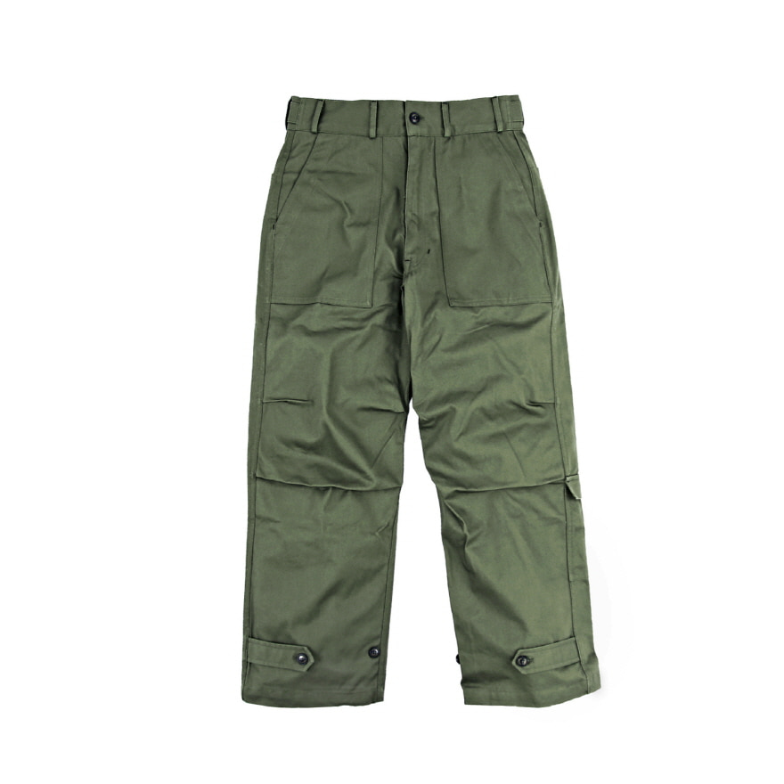 Ankle Strap Pants (Loose Fit) - Olive