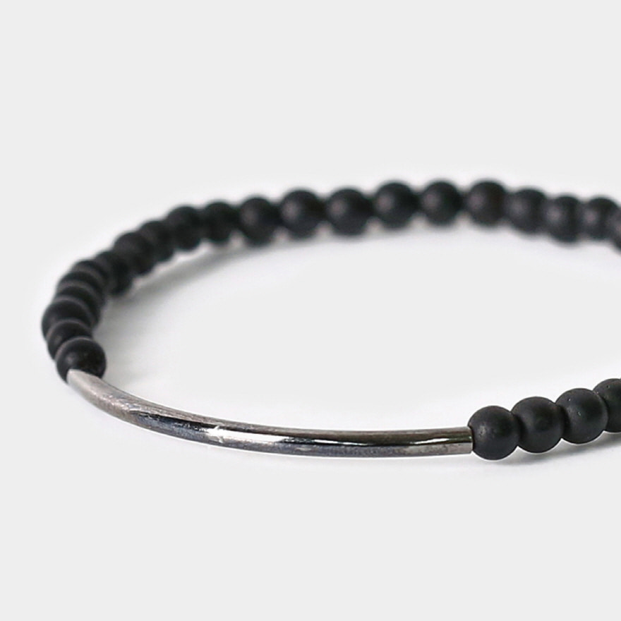 Tubular Bracelet_Gunmetal - Matte Black Onyx