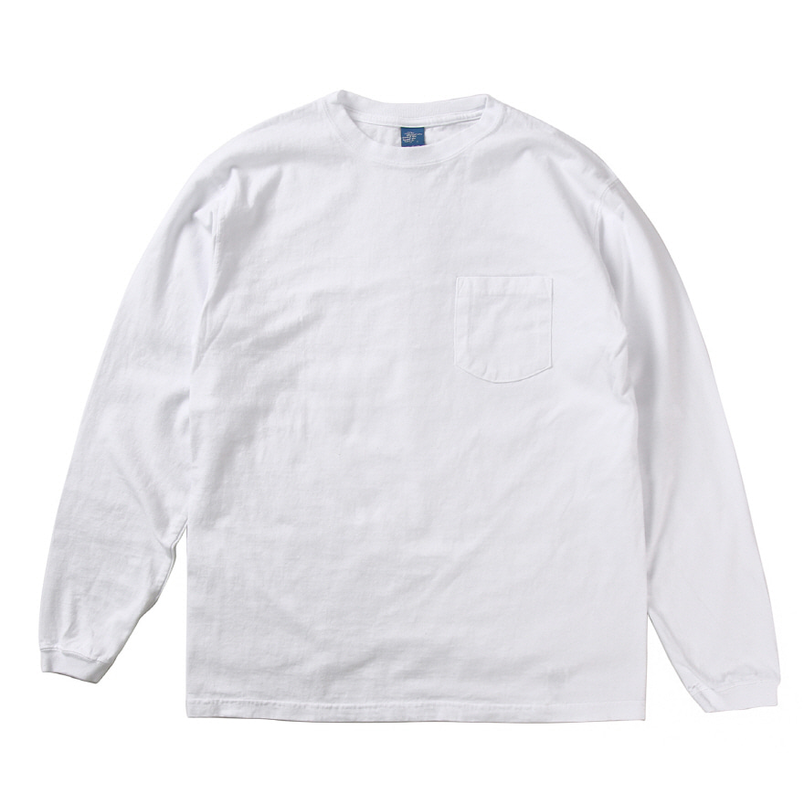 [재입고] Pocket Long T-Shirts - White