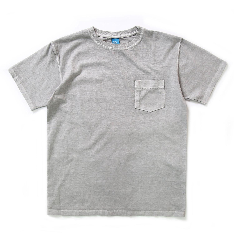 Crew Neck Pocket T-shirts - P-Ash