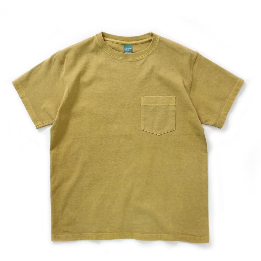 Crew Neck Pocket T-shirts - P-Banana