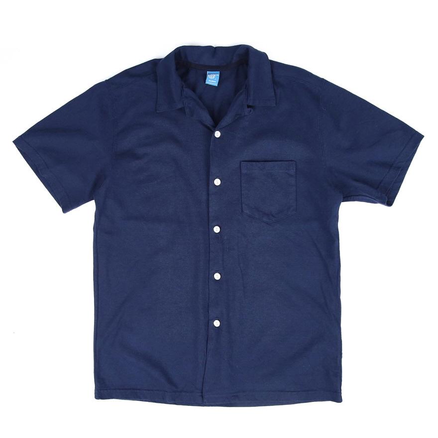 SS Open Tee Shirts - Navy