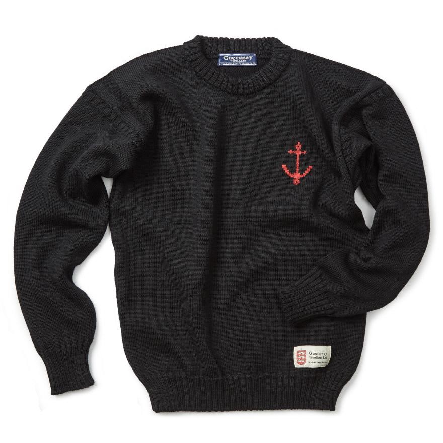 [예약판매 10% 할인] 건지 크루넥 스웨터 - Black