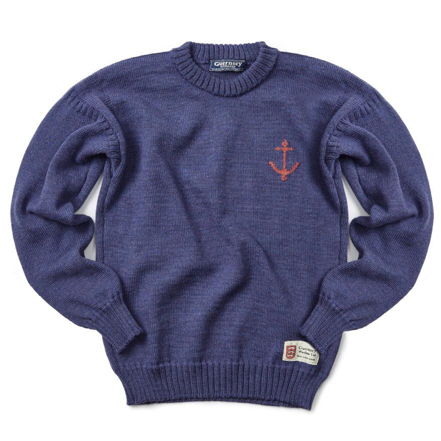 [예약판매 10% 할인] 건지 크루넥 스웨터 - Denim Blue
