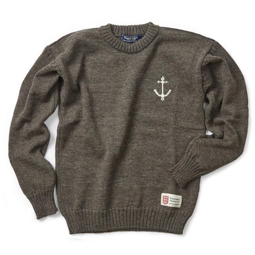[예약판매 10% 할인] 건지 크루넥 스웨터 - Dark Grey
