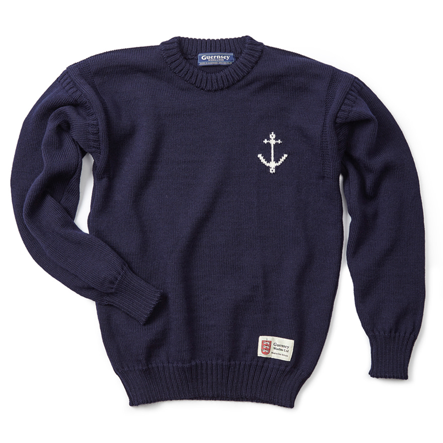 [예약판매 10% 할인] 건지 크루넥 스웨터 - Navy