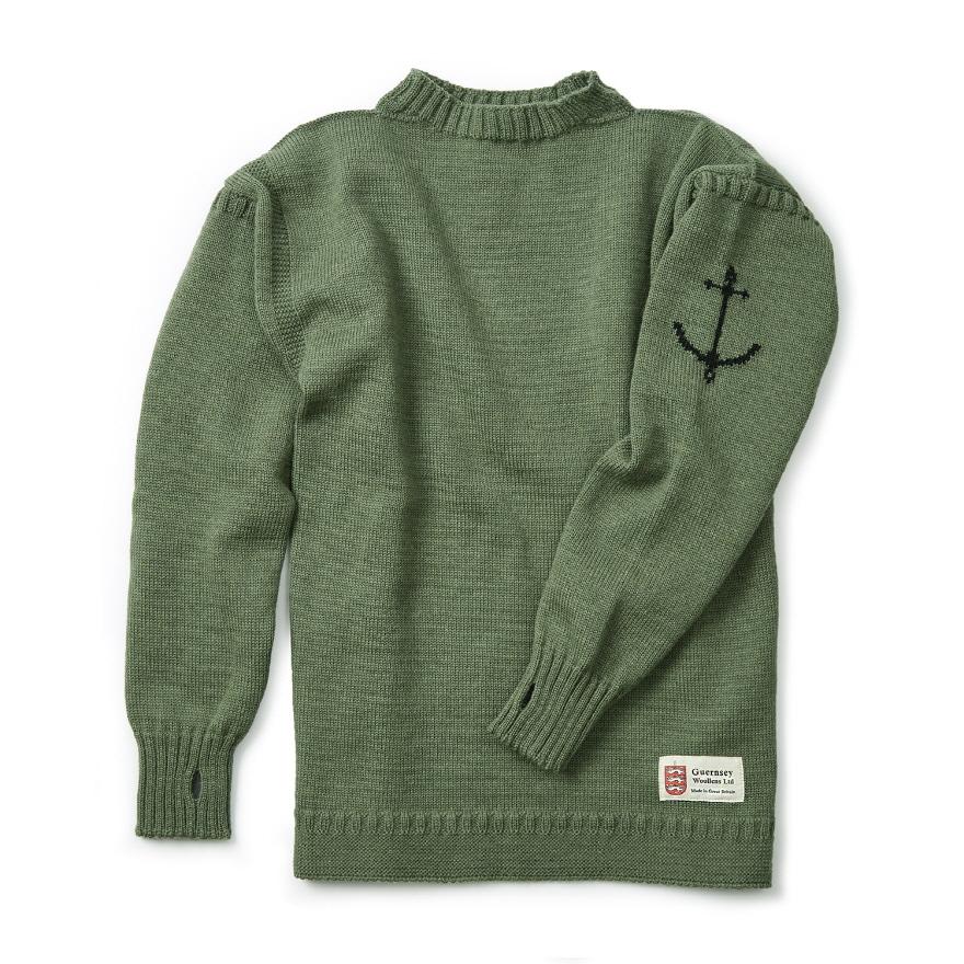 [예약판매 10% 할인] 건지 트래디셔널 스웨터 - Olive