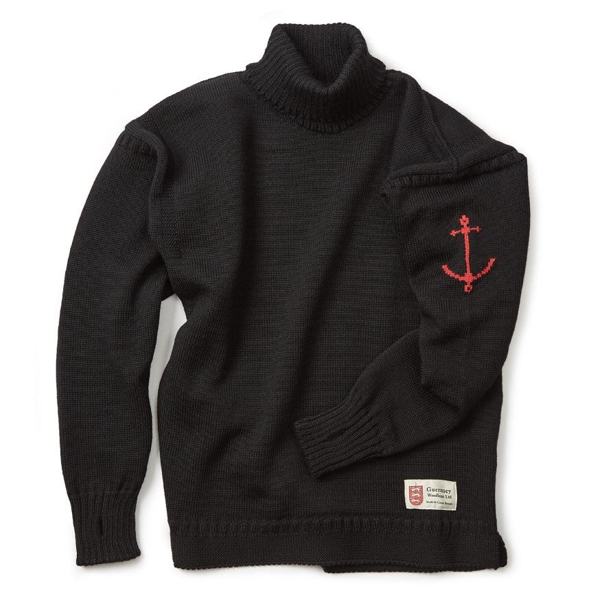 [예약판매 10% 할인] 건지 터틀넥 스웨터 - Black