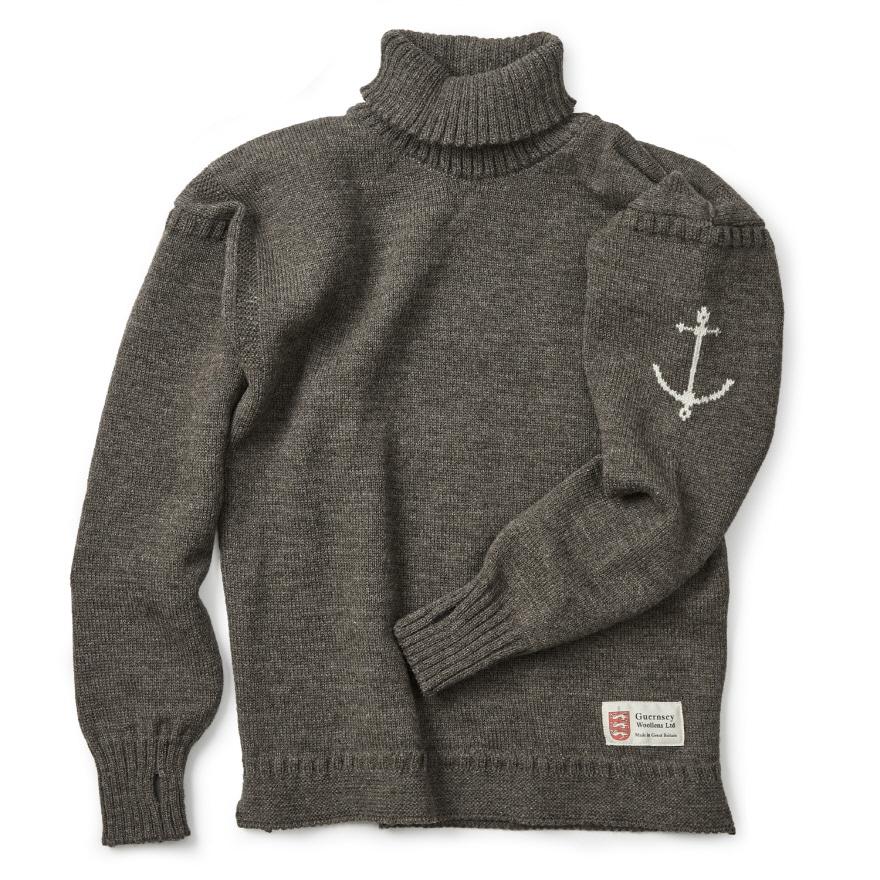 [예약판매 10% 할인] 건지 터틀넥 스웨터 - Dark Grey