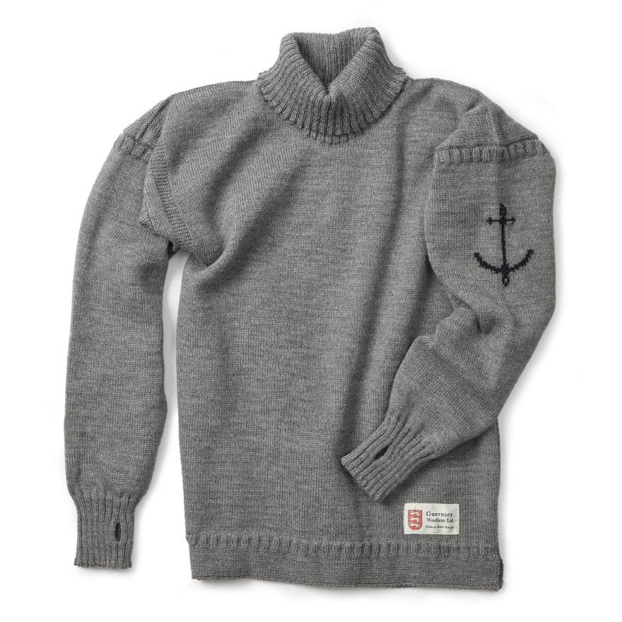 [예약판매 10% 할인] 건지 터틀넥 스웨터 - Light Grey