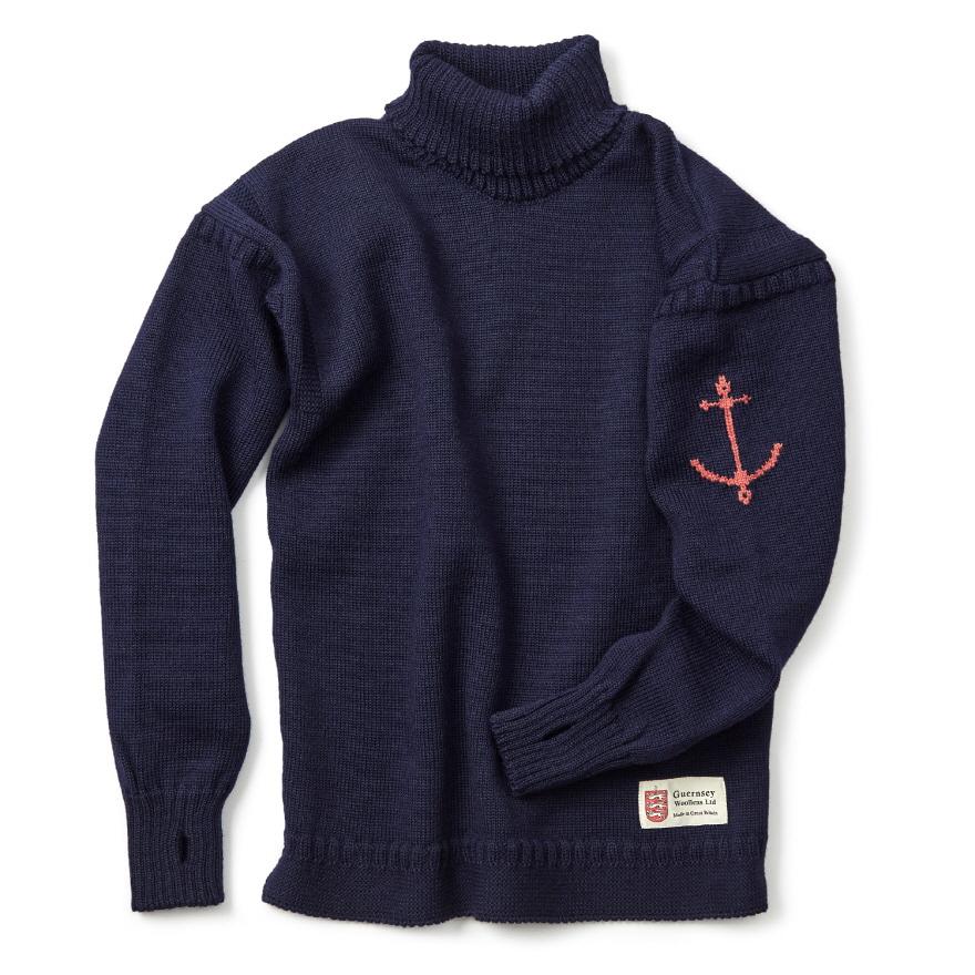 [예약판매 10% 할인] 건지 터틀넥 스웨터 - Navy