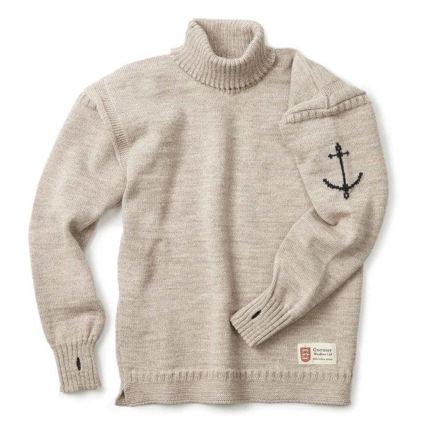 [예약판매 10% 할인] 건지 터틀넥 스웨터 - Oatmeal