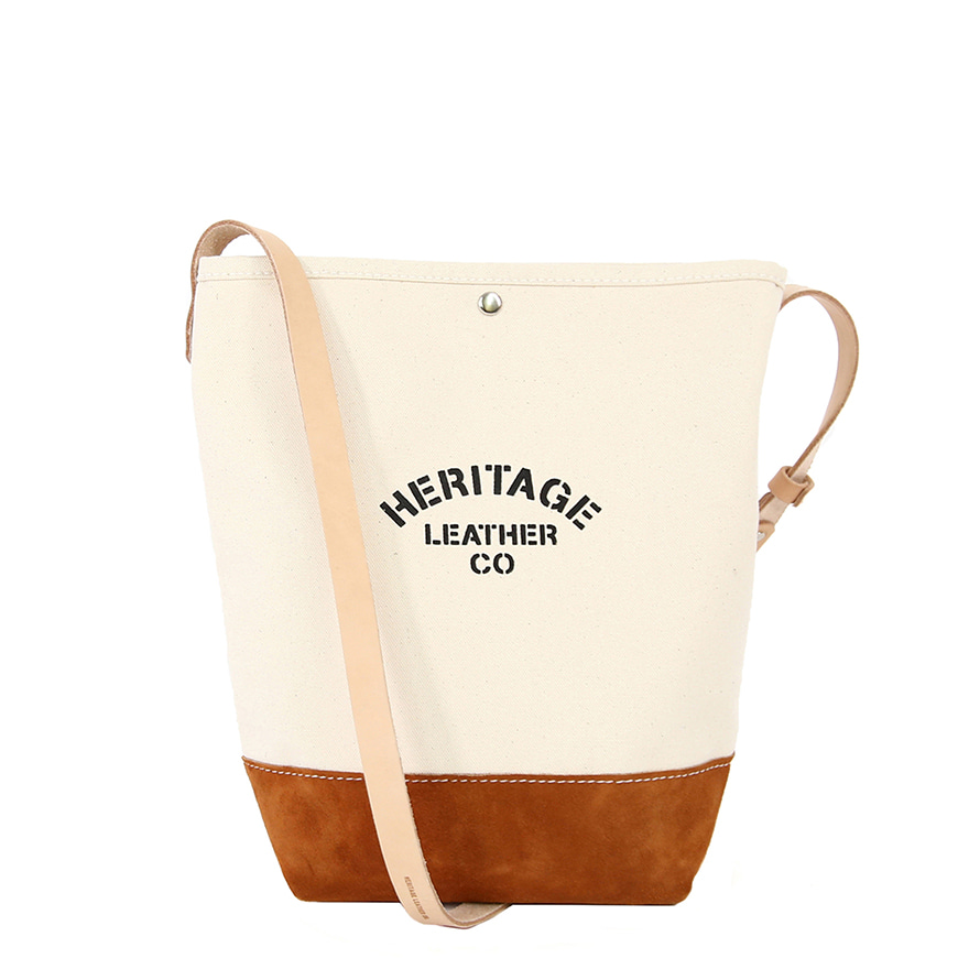 Suede Bucket Shoulder - Natural / Brown