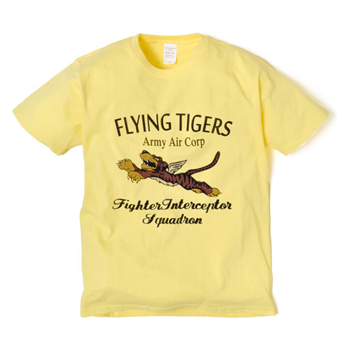 Military Tee - Flying Tiger - Yellow