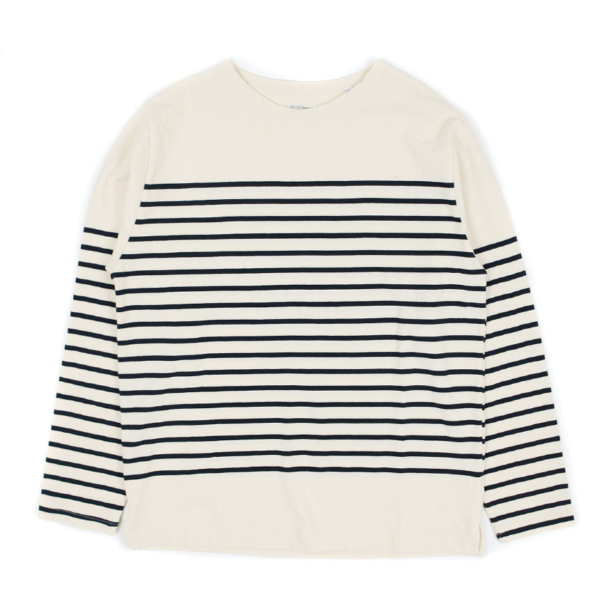 Marine Crewneck Long Sleeve - Ivory/Navy