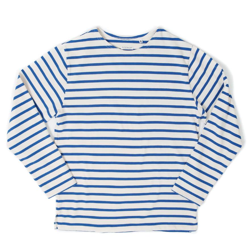 Boat Neck Long Sleeve - Ivory/Blue