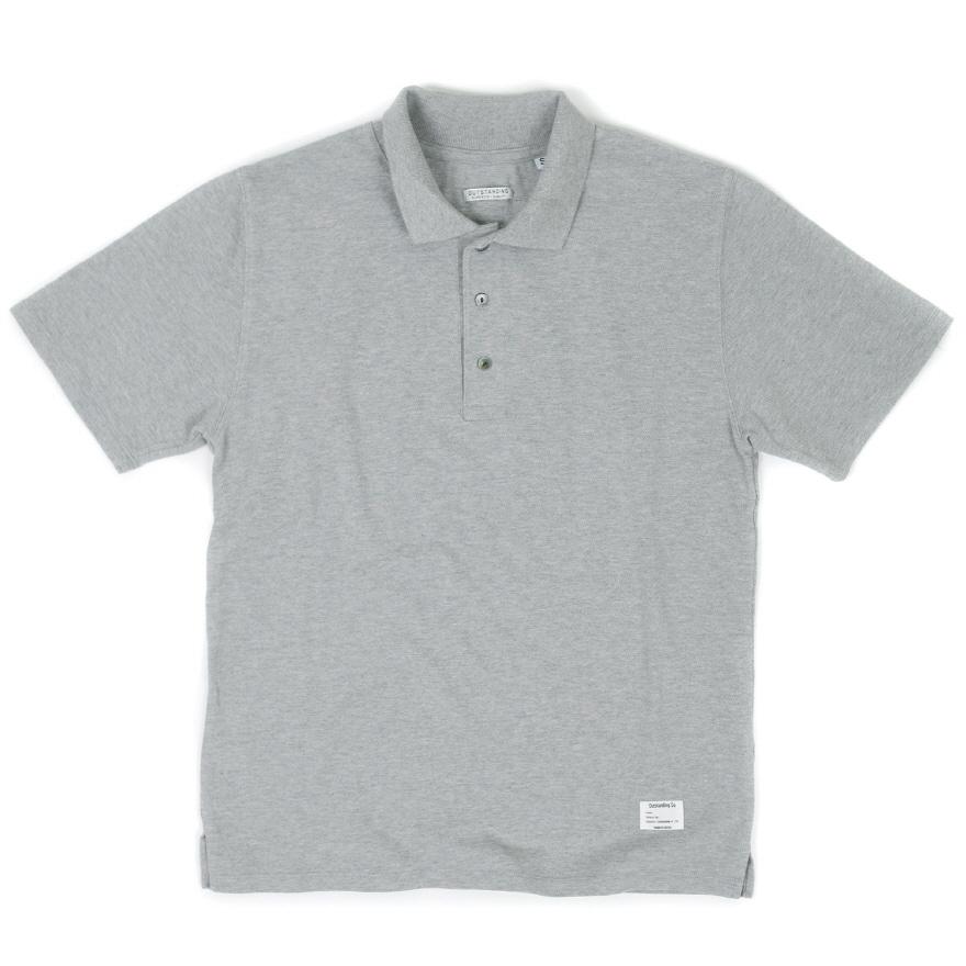 Standard Collar Pique - Melange Gray