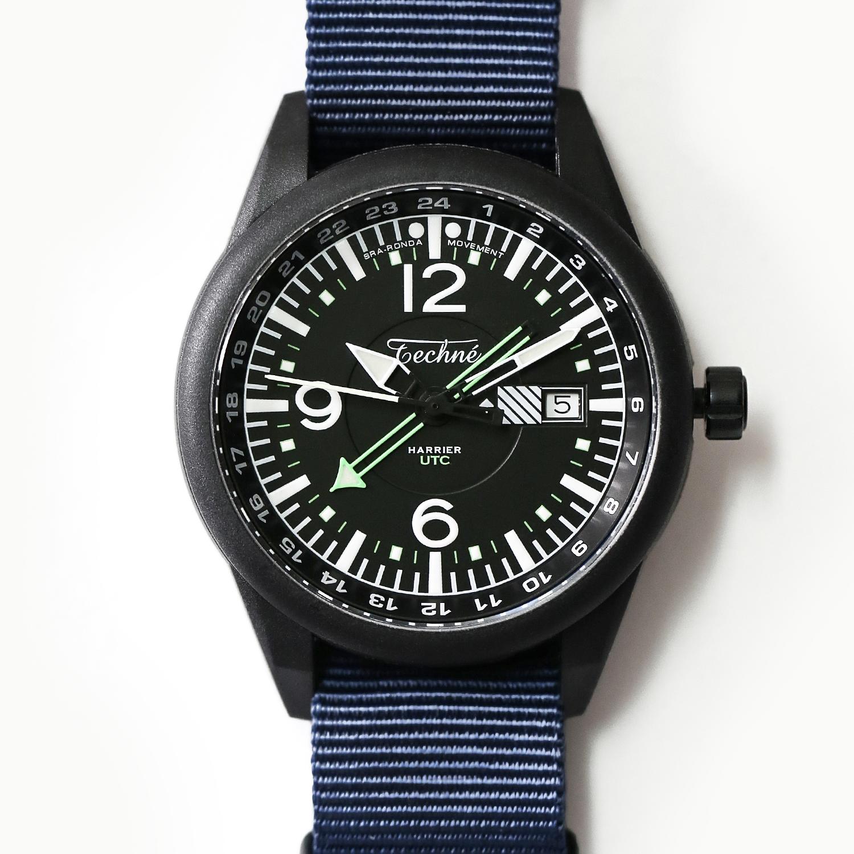 해리어 368 카본 GMT - 나토 스트랩 네이비 PVD