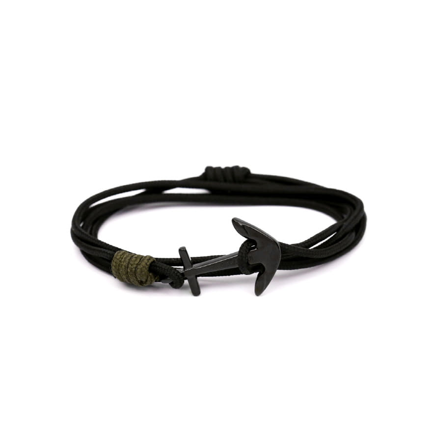 Mini Anchor Bracelet & Necklace - Stealth Black