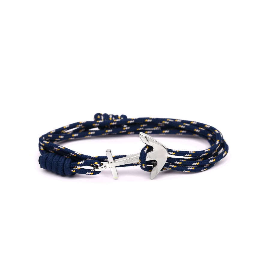 Mini Anchor Bracelet & Necklace - Peach Navy