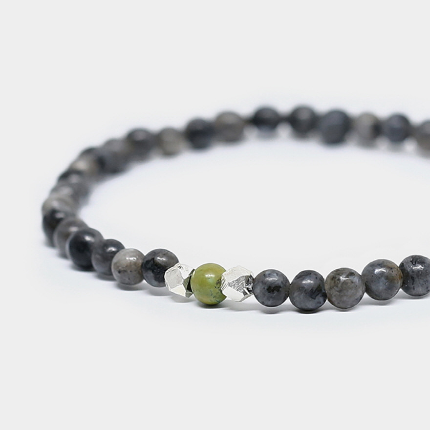 Nomad Bracelet - Grey Larvikite