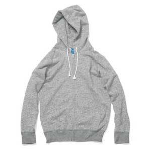 Raglan Zip Hood Sweat - Metal