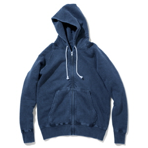 Raglan Zip Hood Sweat - P-Navy