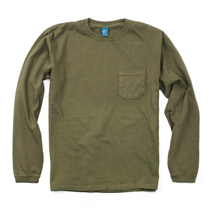 Pocket Long T-Shirts - Olive