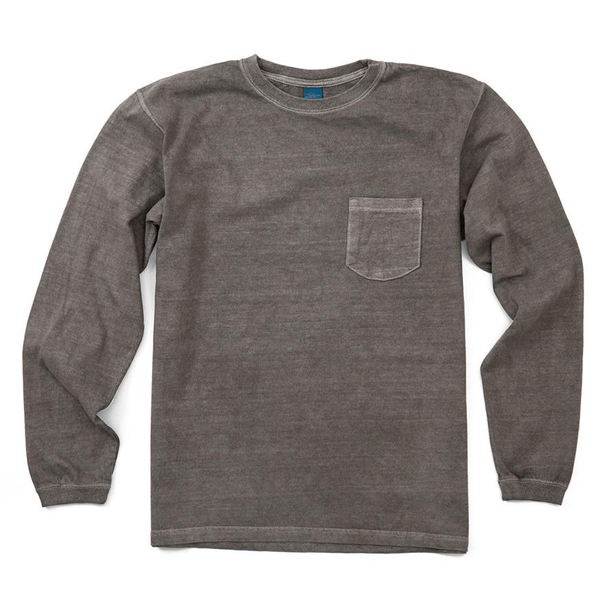 Pocket Long T-Shirts - P-Grey