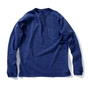 Pocket Long T-Shirts - Indigo