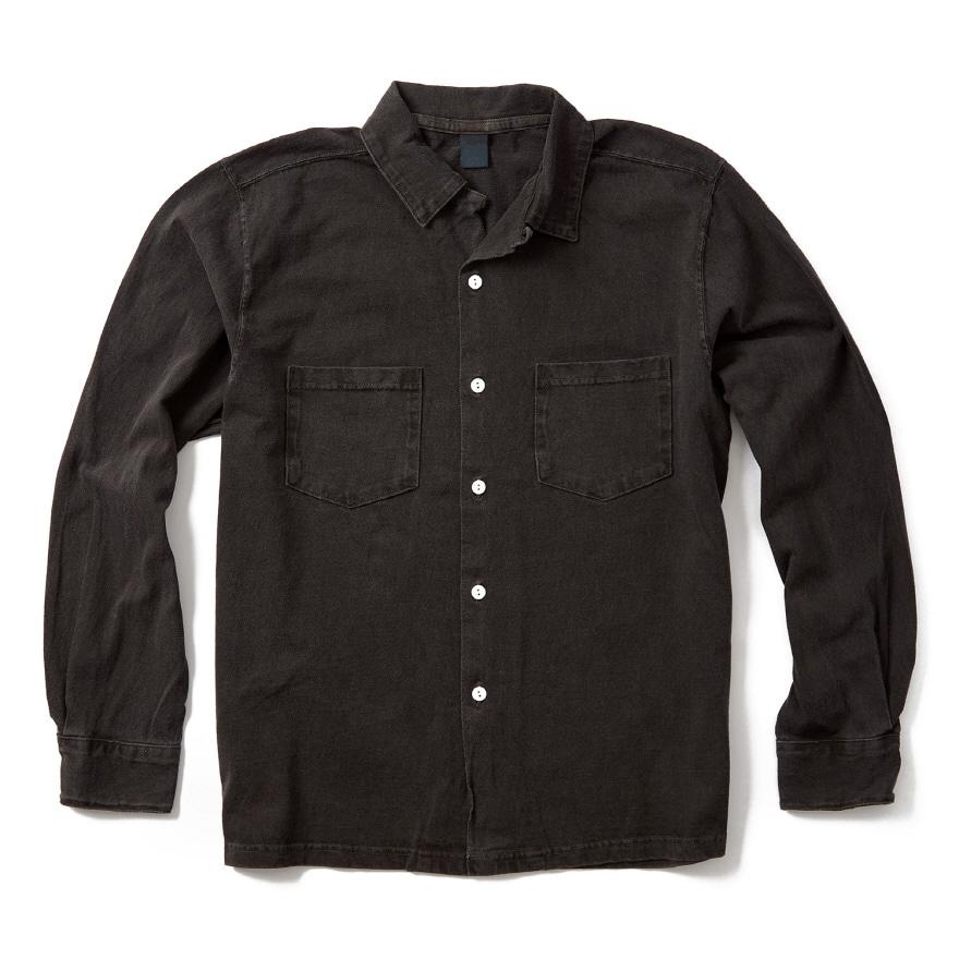 Long Open Tee Shirts - P-Black
