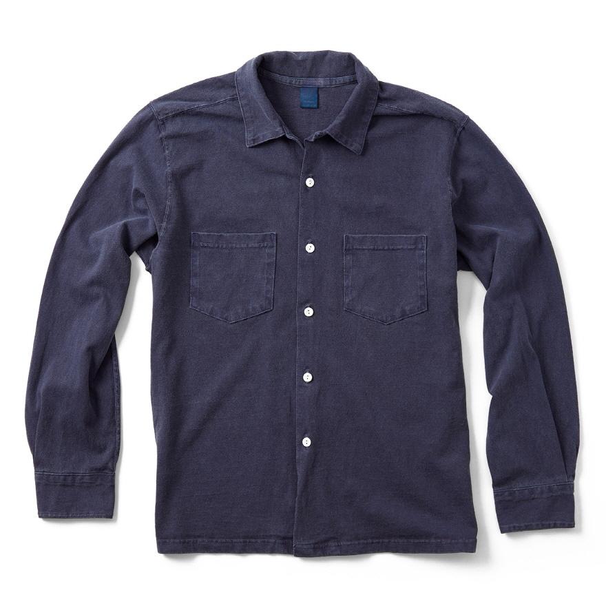 Long Open Tee Shirts - P-Navy