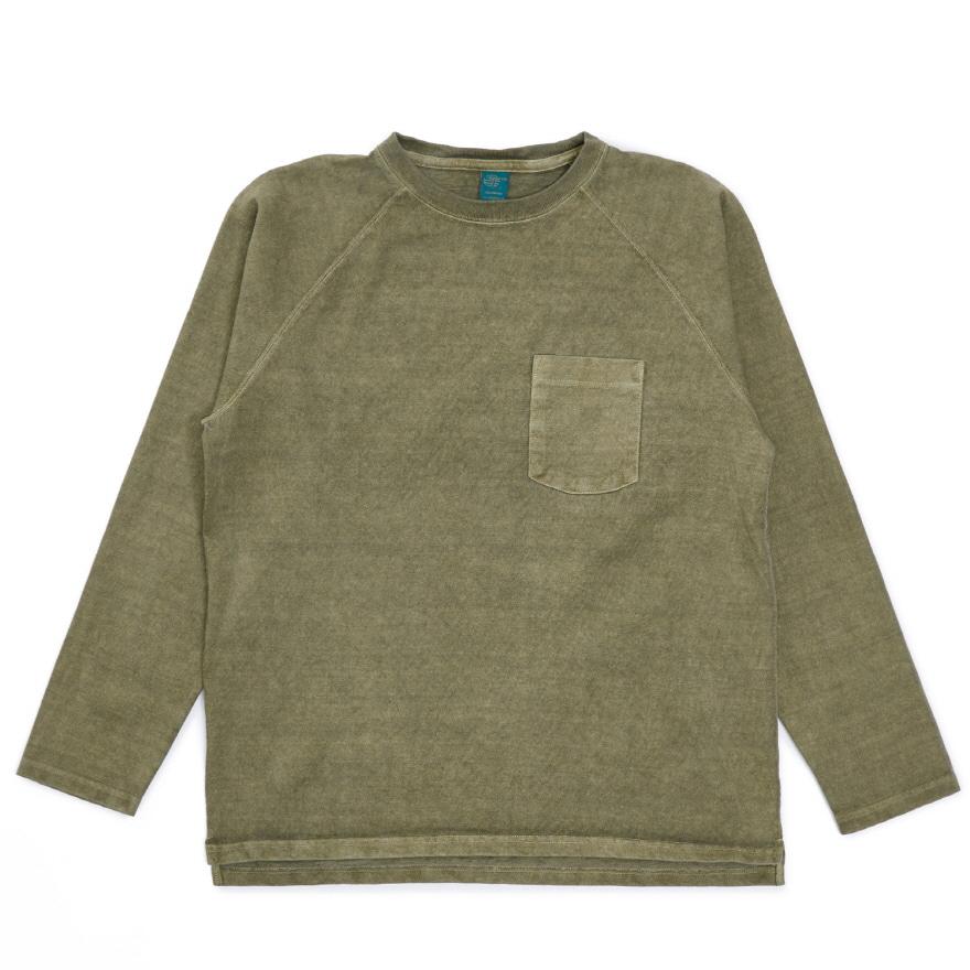 HVY Cotton Long Pocket T-Shirts - P-Sage