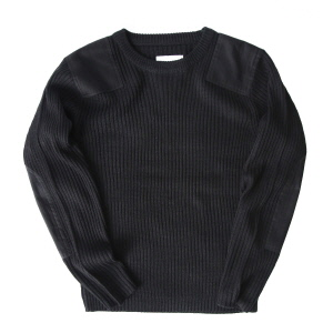 Command Crew Neck Sweater - Black