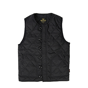 HOUSTON,Ripstop Collarless Vest - Black