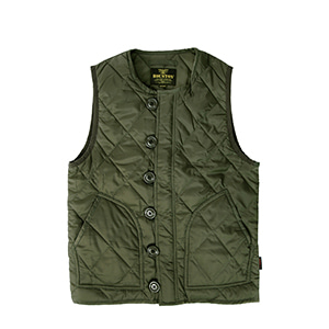 HOUSTON,Ripstop Collarless Vest - Olive Drab
