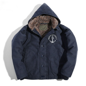 French Deck Jacket - Navy