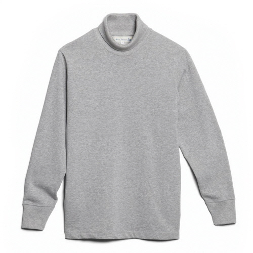 219 Turtle Neck Long Sleeve - Grey Mel