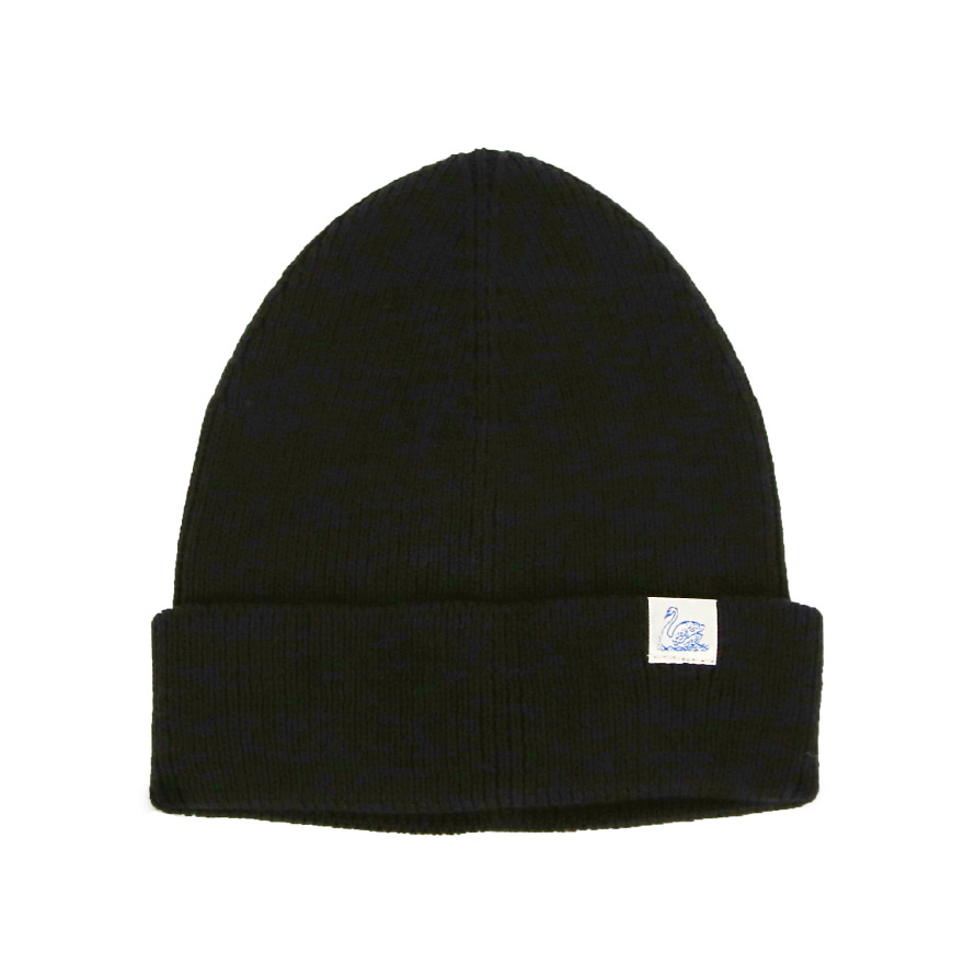 C91 Cotton Beanie - Deep Black