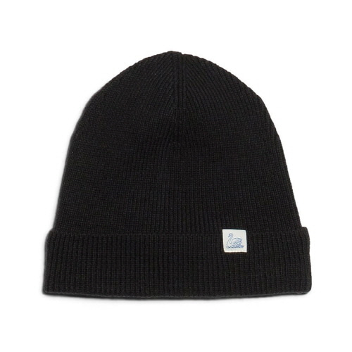 M91 Merino Knitted Beanie - Deep Black